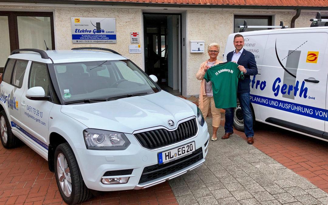 Elektro Gerth ist neuer Partner des FC Schönberg 95
