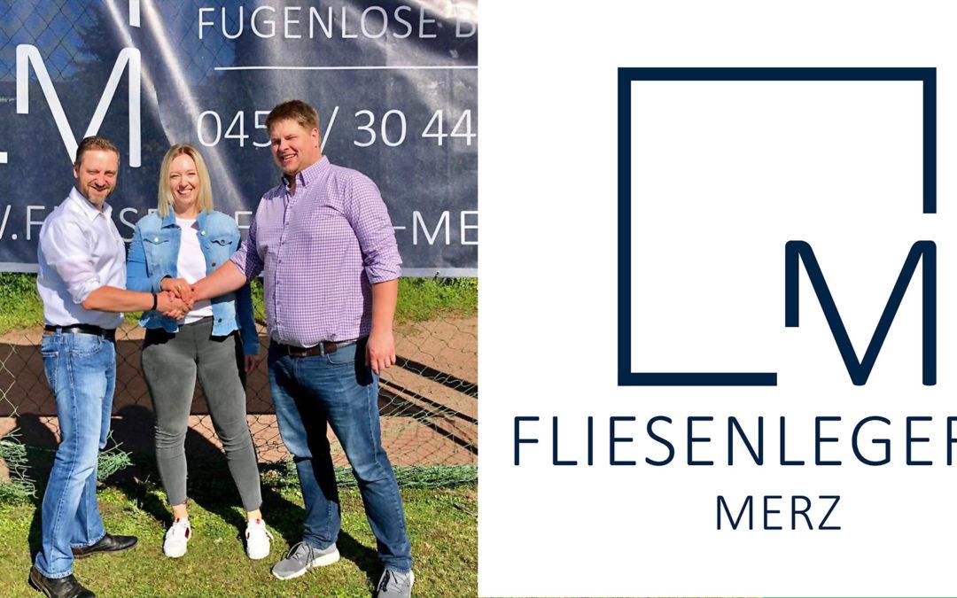 FC 95 begrüßt FLIESENLEGEREI MERZ in der Partnerfamilie