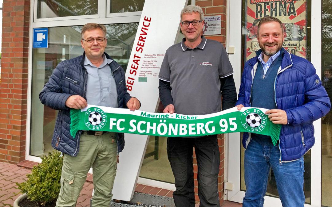 Autohaus Oldenburg neuer Partner des FC Schönberg 95