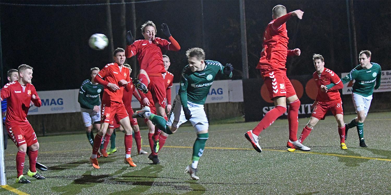 Marcel Nagel erzielte nach der Pause den zwischenzeitlichen Ausgleich für den FC Schönberg 95.
