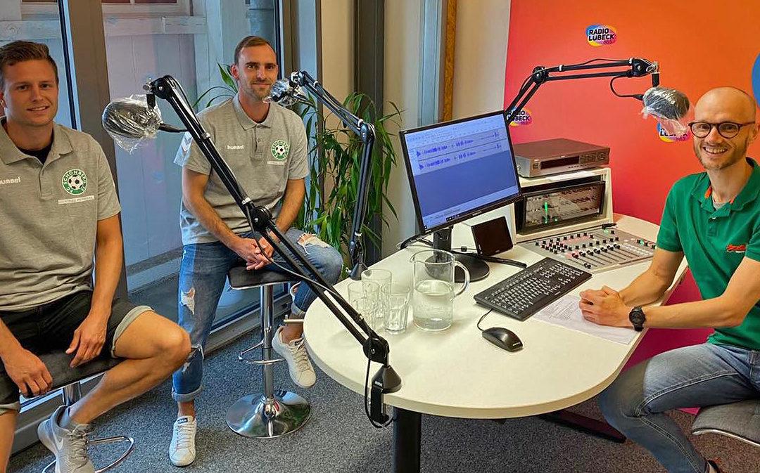 Daniel Halke und Marcel Meier bei Radio Lübeck